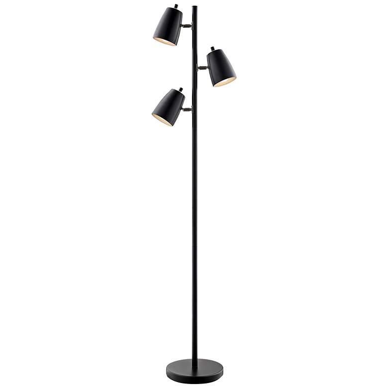 Lite Source Ronnie Black 3-Light Tree Floor Lamp