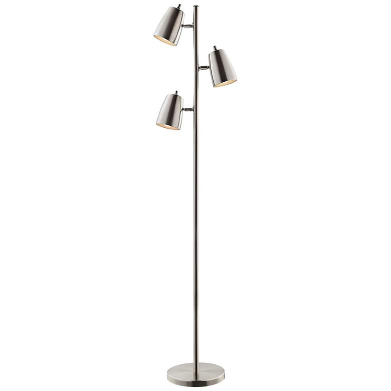 Lite Source Ronnie Brushed Nickel 3 Light Tree Floor Lamp 42g09 Lamps Plus