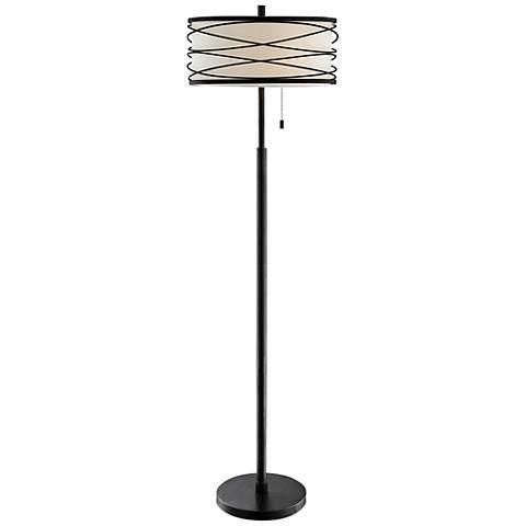 Lite Source Lumiere Black Metal Floor Lamp
