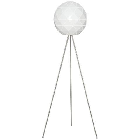 Lite Source Pandora Brushed Nickel Tripod Floor Lamp