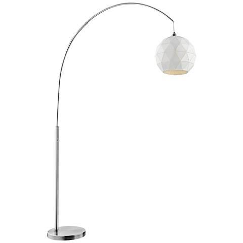Lite Source Pandora Brushed Nickel Arc Floor Lamp