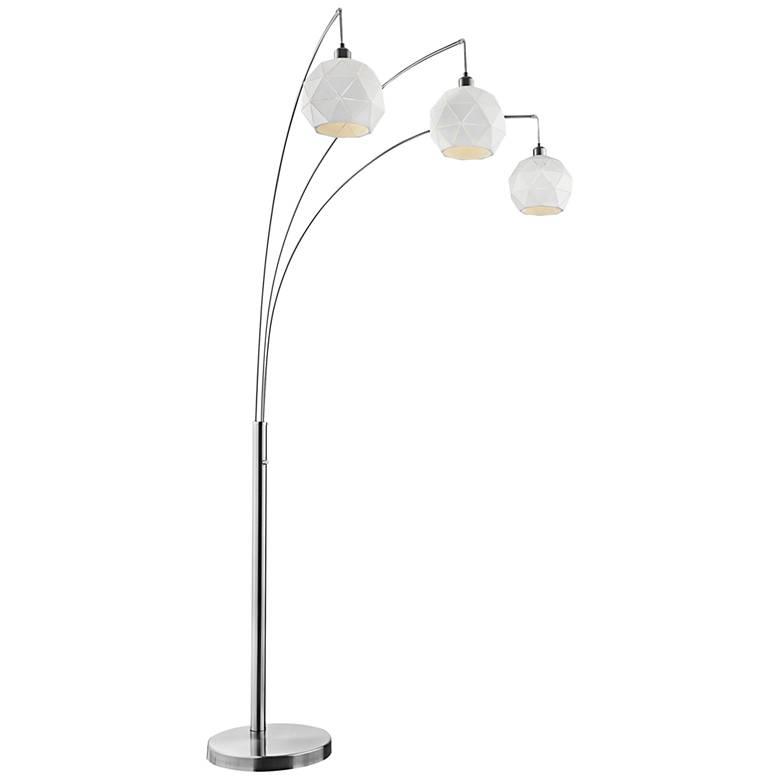 Lite Source Pandora Brushed Nickel 3-Light Arc Floor Lamp