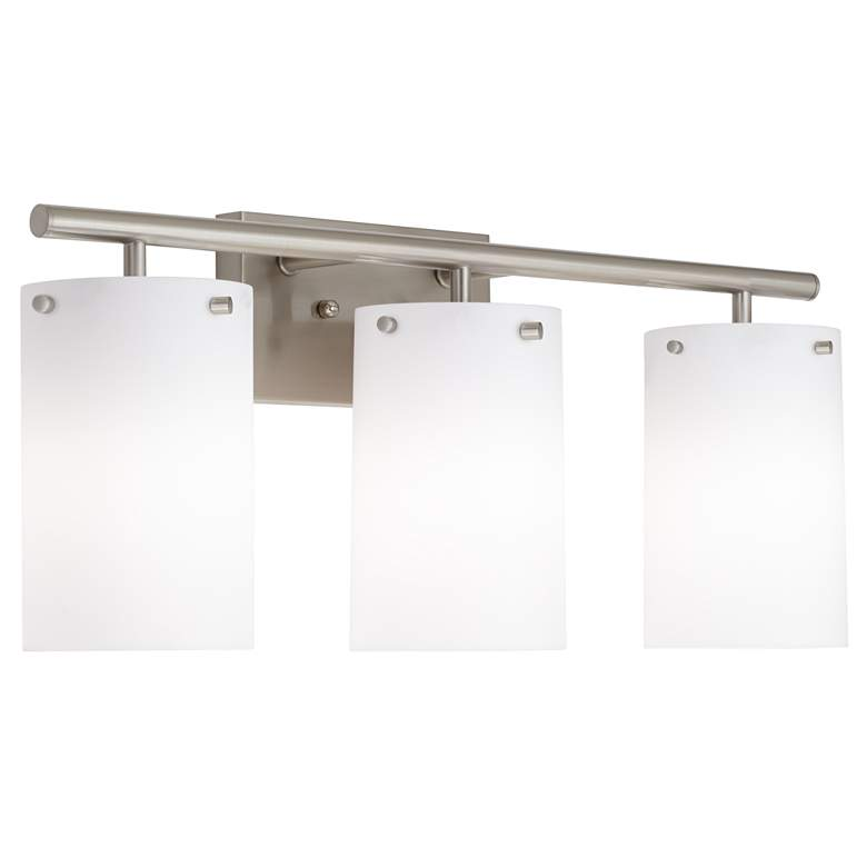 "42G20 - 24"" Brushed Nickel Vanity with Frosted Glass Shades"