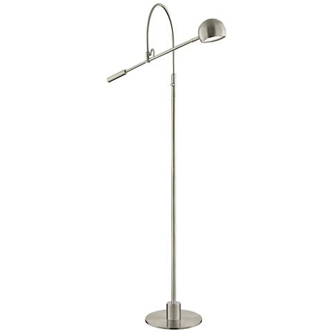 Lite Source Randall Brushed Nickel LED Floor Lamp