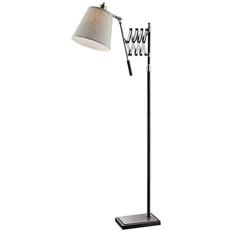 Lite Source Caprilla Brushed Nickel Extendable Floor Lamp