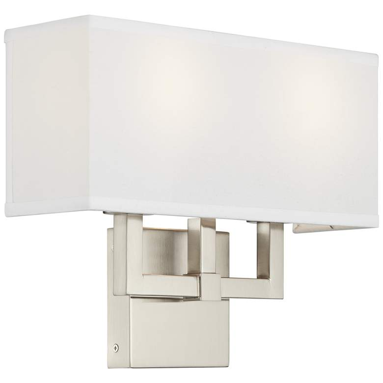 42G53 - Brushed Nickel Sconce with Two Arms