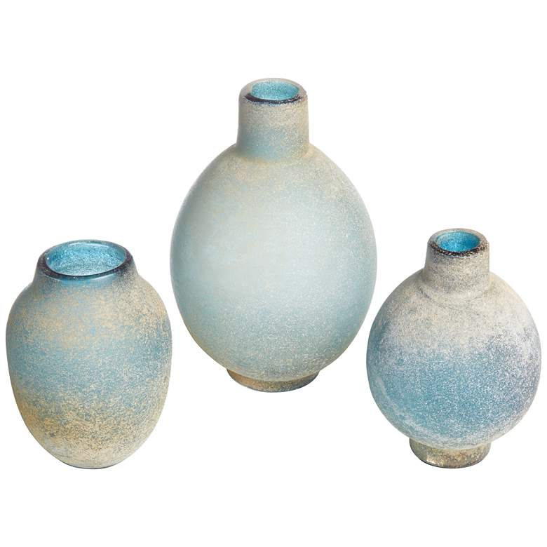 Mercede Blue-Green Modern Vases - Set of 3 by Uttermost