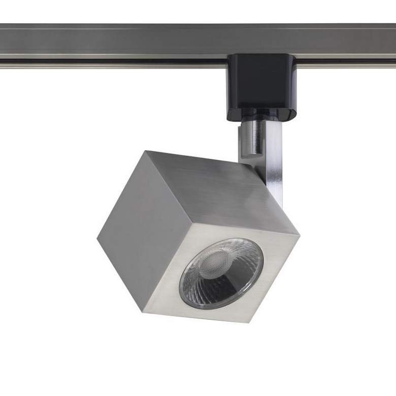 Brushed Nickel Square 12 Watt LED Track Head