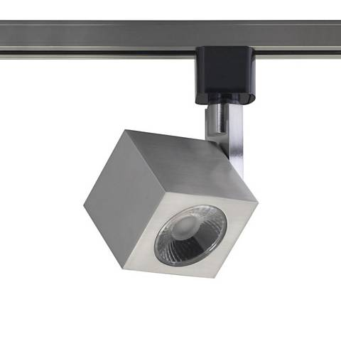 Brushed Nickel Square 12 Watt LED Track Head for Halo System