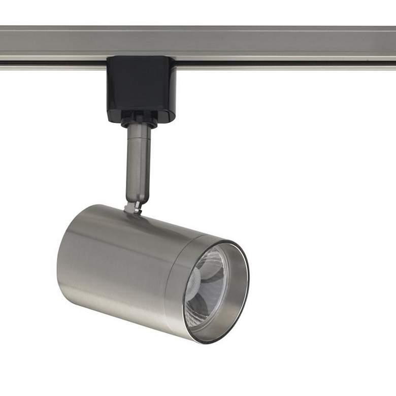 Brushed Nickel 12W LED Cylinder Track Head for