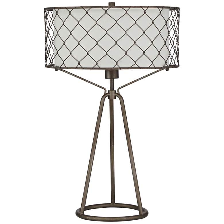 Quoizel Homestead Bronze Steel Table Lamp