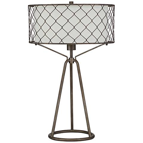 Quoizel Homestead Bronze Steel Table Lamp