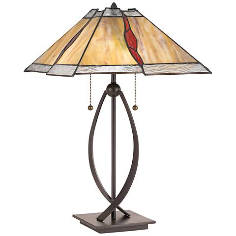 Quoizel Cavern Western Bronze Accent Table Lamp