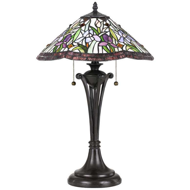 Quoizel White Valley Vintage Bronze Table Lamp