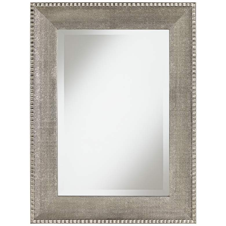 "George Pinched Outer Border Wood 30"" x 40"" Wall Mirror"
