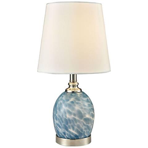 "Boyton 15 1/2"" High Nickel Accent Table Lamp w/ Night Light"