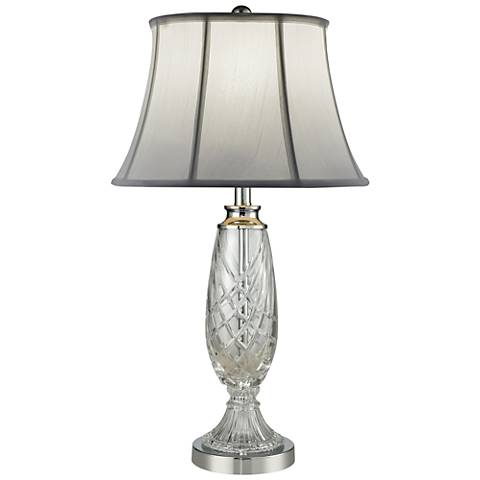 Dale Tiffany Claven Polished Chrome and Crystal Table Lamp