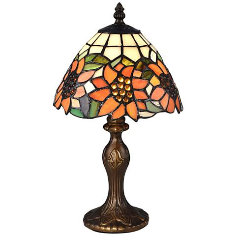 """Discovery 14""""H Bronze Tiffany-Style Accent Table Lamp"""