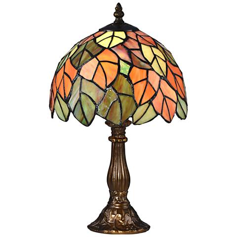 """Cape Reinga 15"""" High Bronze Tiffany-Style Accent Table Lamp"""