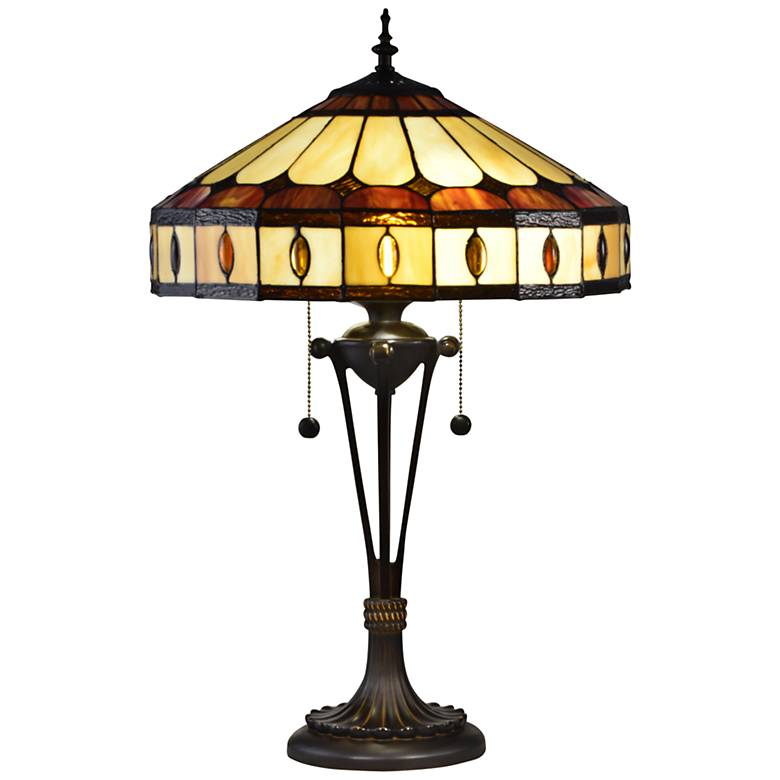 Dale Tiffany Julio Antique Bronze Tiffany-Style Table Lamp