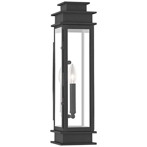 "Princeton 20 1/4"" High Black Outdoor Wall Light"