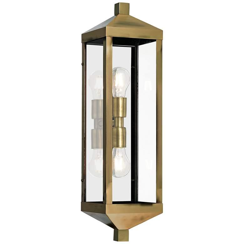 """Nyack 24"""" High Antique Brass Outdoor Wall Light"""