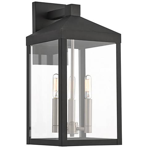 "Nyack 17 1/2"" High Black Outdoor Wall Light"