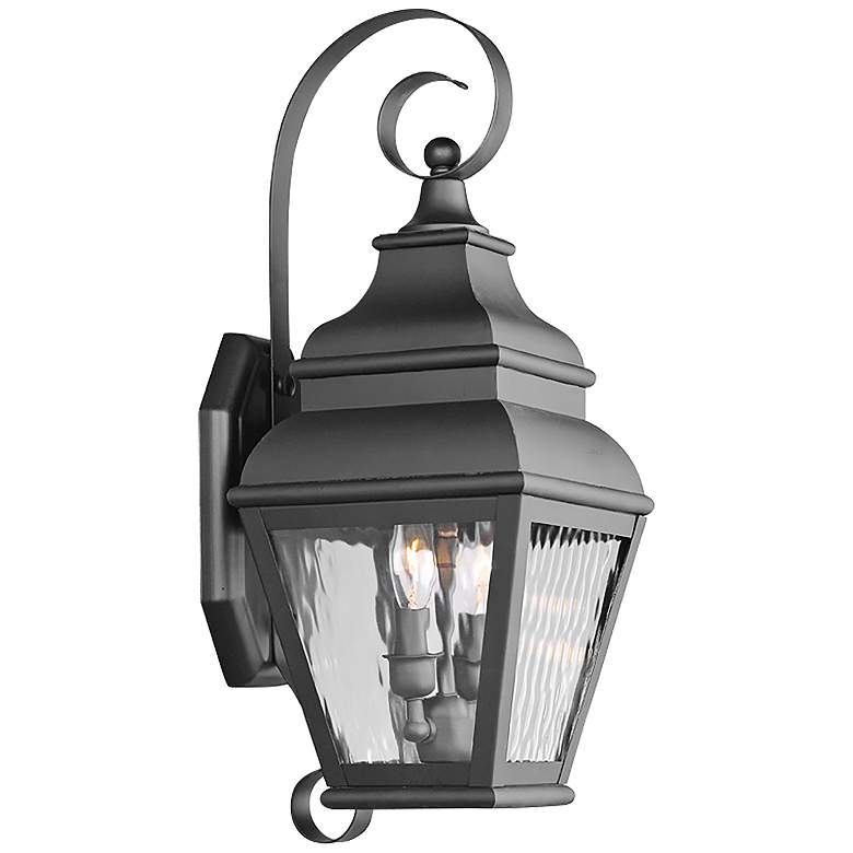 "Exeter 21 1/2"" High Black Outdoor Wall Light"