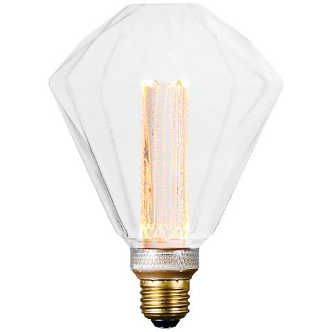 40W Equivalent 3.5W LED Dimmabl Diamond Clear Bulb
