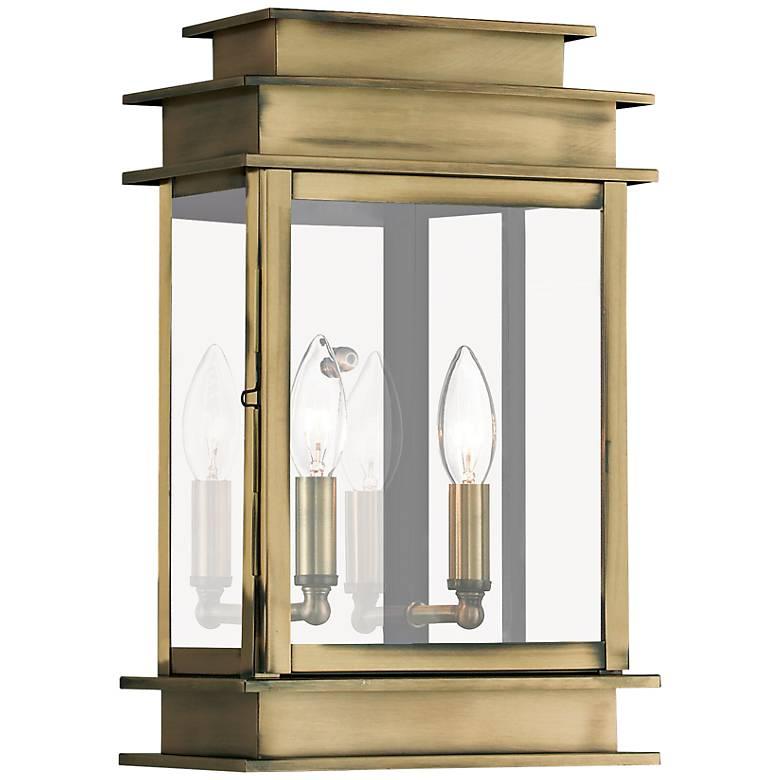 """Princeton 15 1/4"""" High Antique Brass Outdoor Wall Light"""
