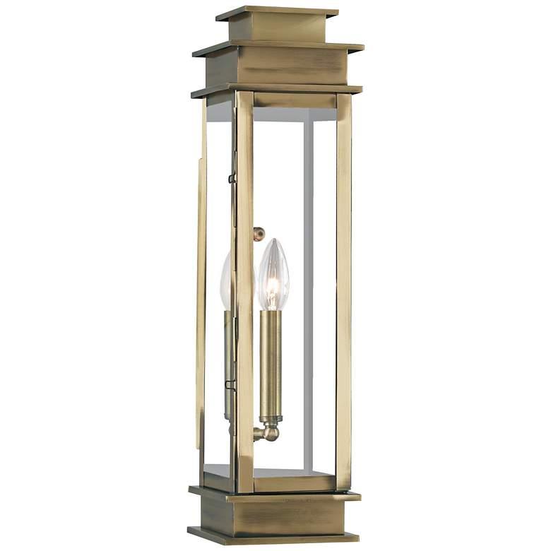 """Princeton 20 1/4"""" High Antique Brass Outdoor Wall Light"""