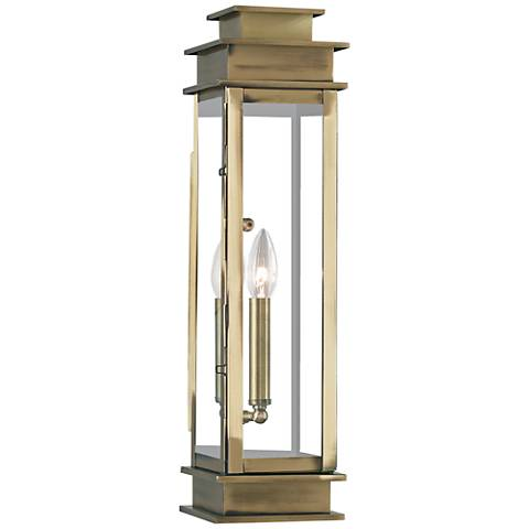 "Princeton 20 1/4"" High Antique Brass Outdoor Wall Light"