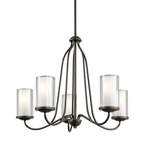 "Kichler Lorin 25"" Wide Oiled Bronze 5-Light Chandelier"
