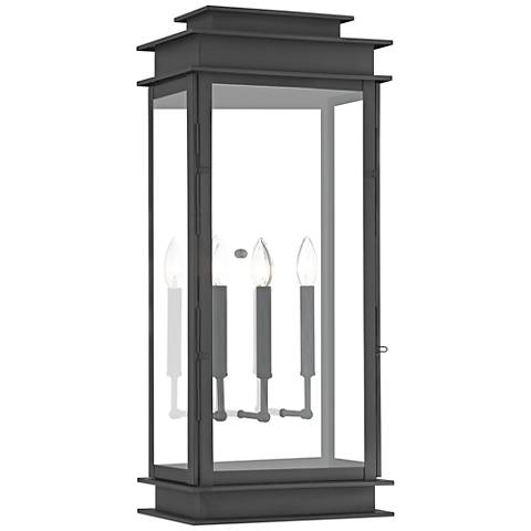 "Princeton 28 1/2"" High Black Outdoor Wall Light"