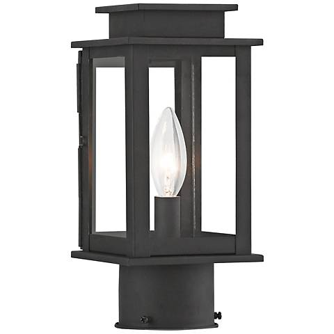 "Princeton 10 1/2"" High Black Outdoor Post Light"