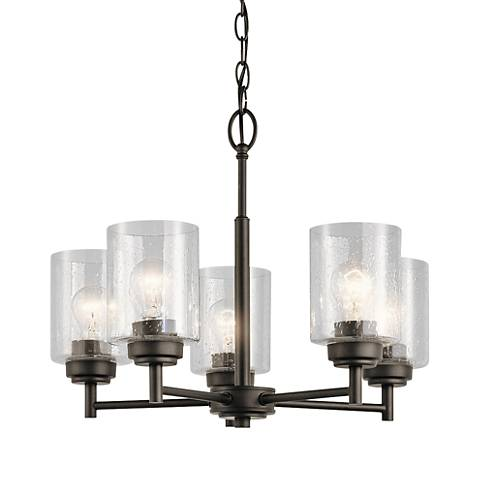 "Kichler Winslow 19 3/4"" Wide Oiled Bronze 5-Light Chandelier"