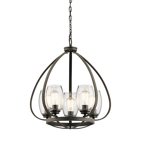 "Kichler Tuscany 22"" Wide Oiled Bronze 5-Light Chandelier"