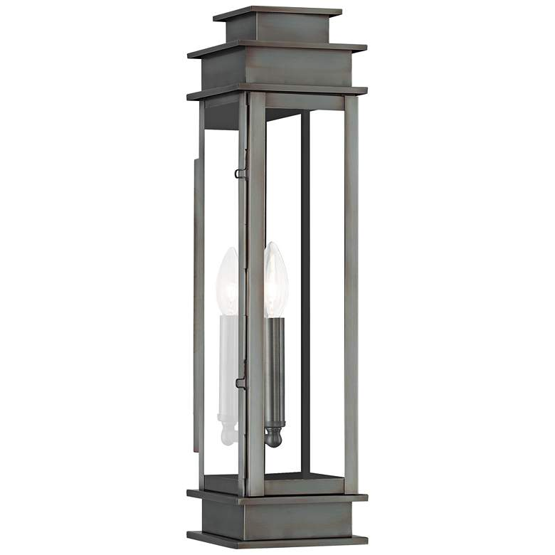 "Princeton 20 1/4"" High Vintage Pewter Outdoor Wall Light"
