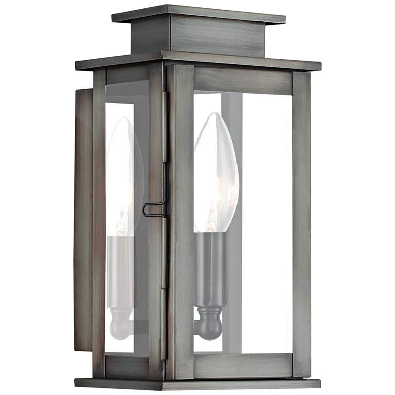 """Princeton 9"""" High Vintage Pewter Outdoor Wall Light"""