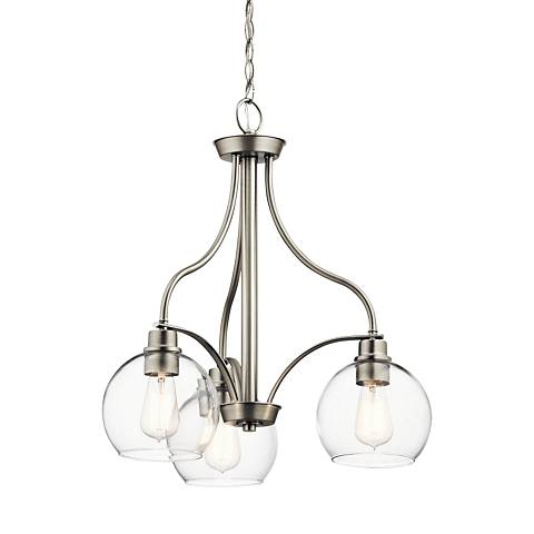 "Kichler Harmony 22"" Wide Brushed Nickel 3-Light Chandelier"