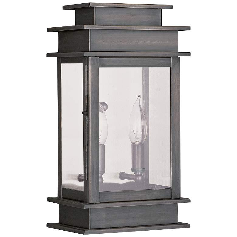 """Princeton 14"""" High Vintage Pewter 2-Light Outdoor Wall"""