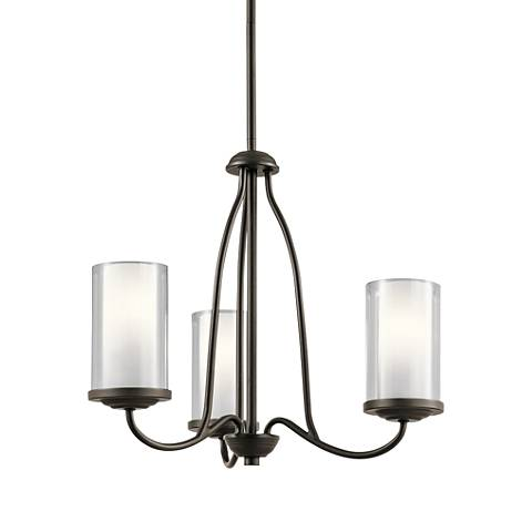 "Kichler Lorin 18 1/2"" Wide Oiled Bronze 3-Light Chandelier"