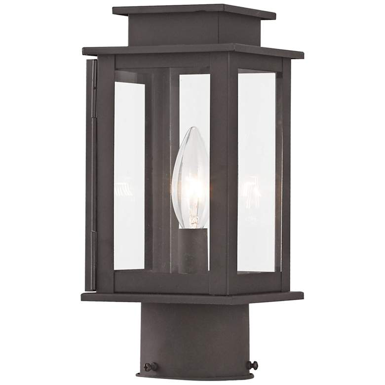 "Princeton 10 1/2"" High Bronze Outdoor Post Light"