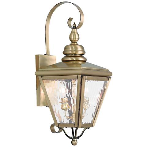 "Cambridge 21 1/2"" High Antique Brass Outdoor Wall Light"