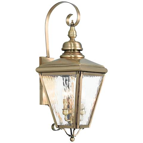 "Cambridge 29"" High Antique Brass Outdoor Wall Light"