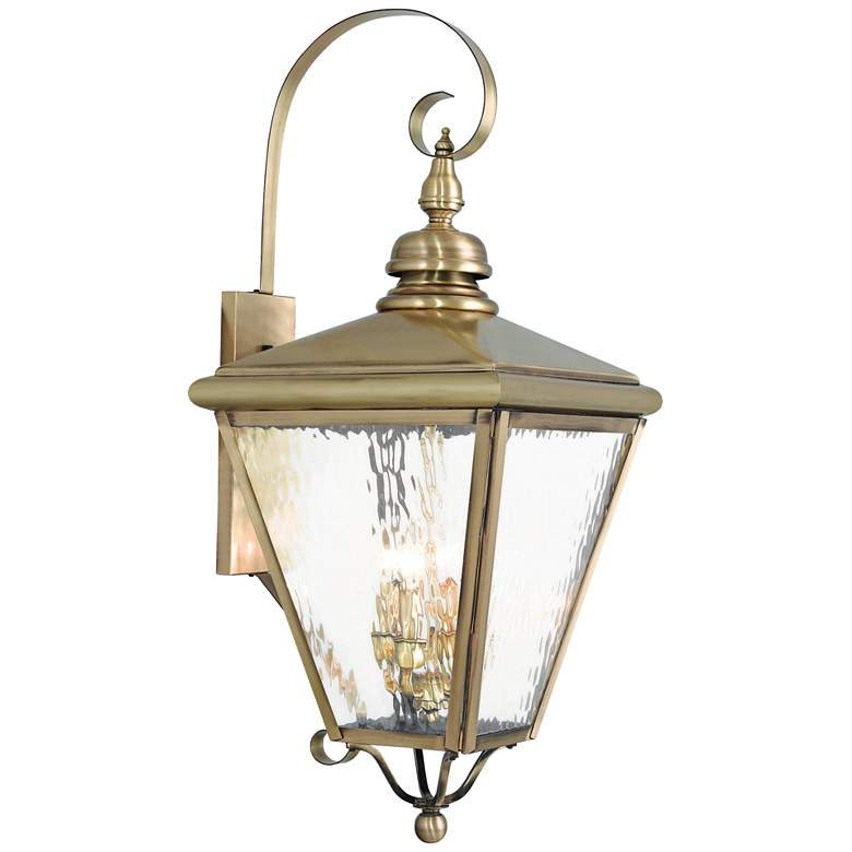 Cambridge 35 High Antique Br Outdoor Wall Light