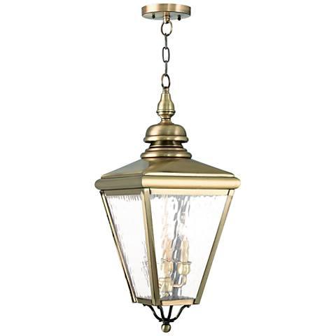 "Cambridge 25 1/4"" High Antique Brass Outdoor Hanging Light"