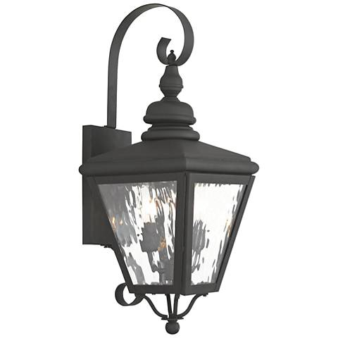 "Cambridge 21 1/2"" High Black Outdoor Wall Light"