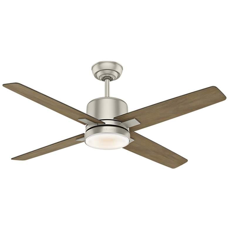 """52"""" Casablanca Axial Matte Nickel LED Ceiling Fan"""
