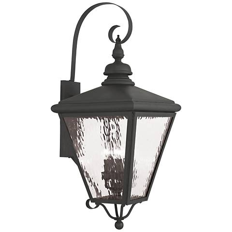 "Cambridge 35"" High Black Outdoor Wall Light"